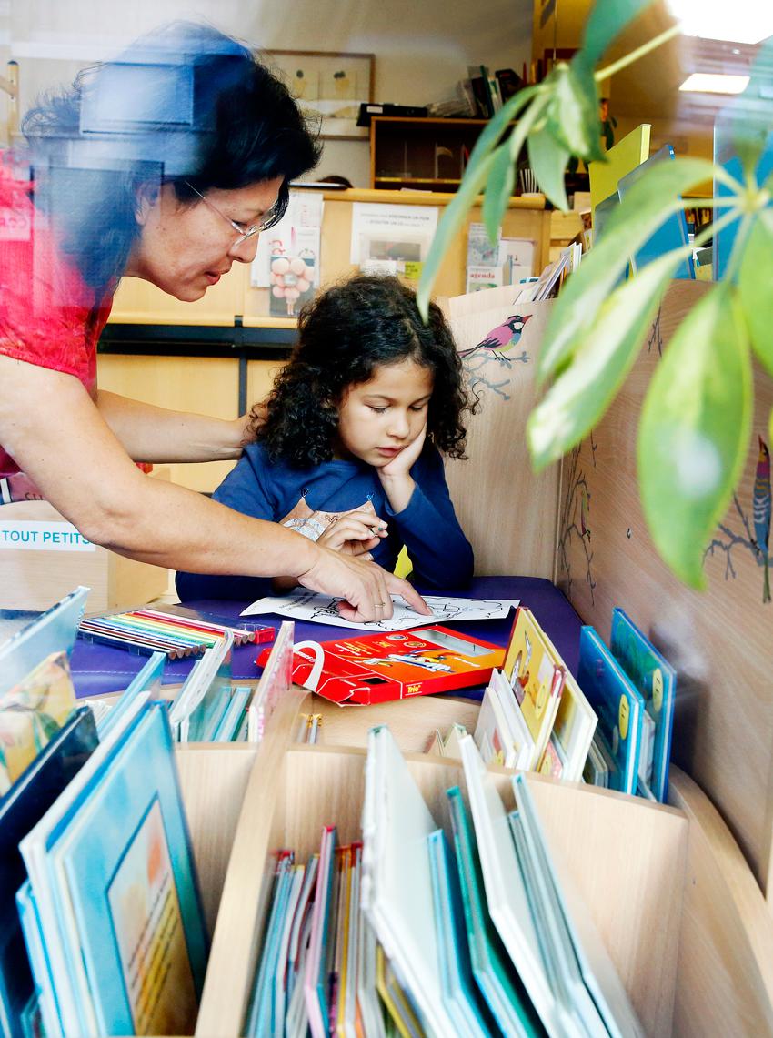 Bibliothèque espace enfants