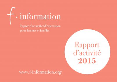 F-information Rapport annuel 2015