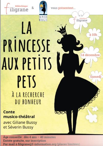 """Samedi 14 décembre : """"La Princesse aux petits pets"""" @ F-information, salle Gabriela"""