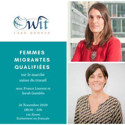 Femmes migrantes qualifiées sur le marché suisse du travail @ via zoom